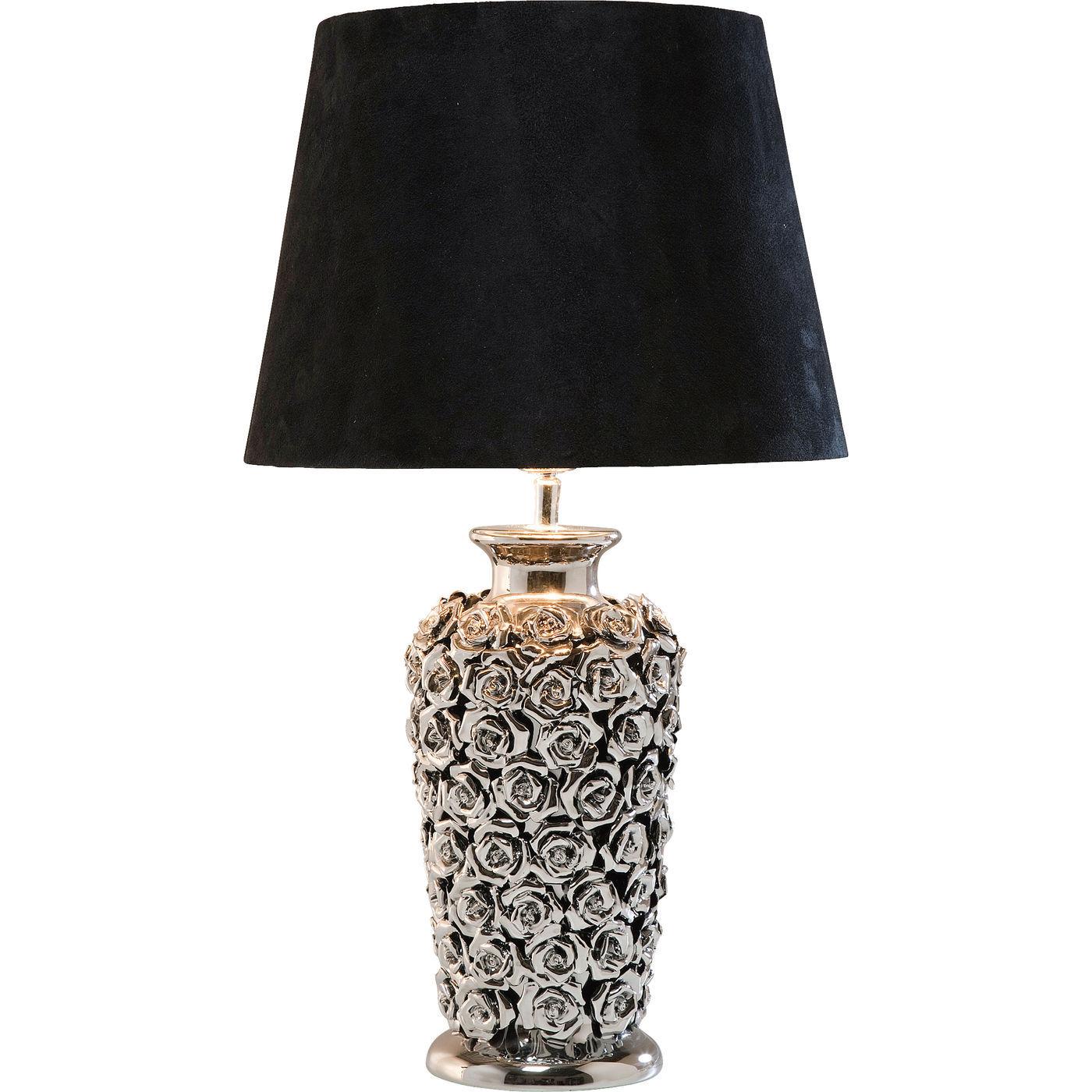 tischlampe tisch lampe tischleuchte leuchte rose chrome deko neu kare design ebay. Black Bedroom Furniture Sets. Home Design Ideas