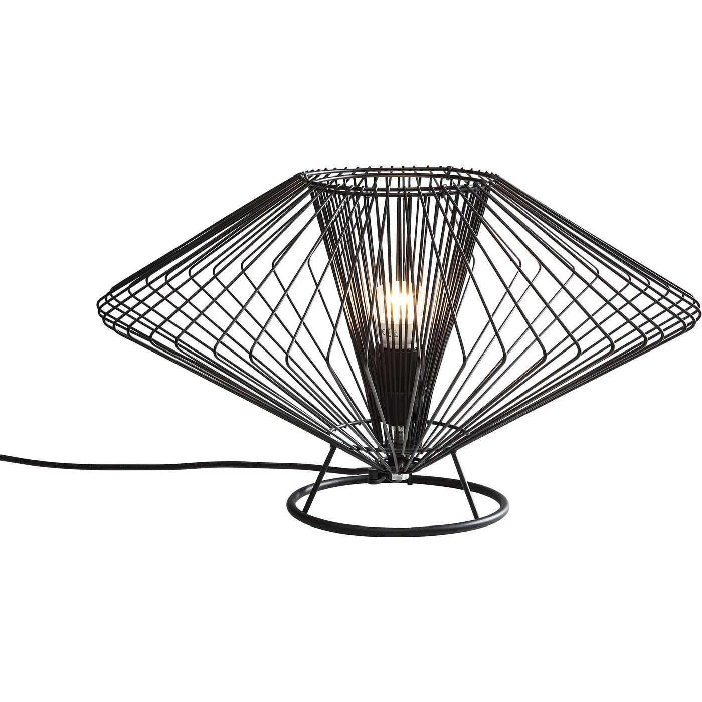 Tischlampe lampe leuchte nachttischlampe modo wire rund for Kare design tischlampe