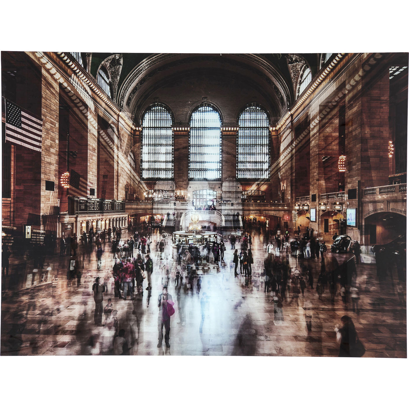 bild glasbild wandbild raumbild architektur grand central station neu kare ebay. Black Bedroom Furniture Sets. Home Design Ideas