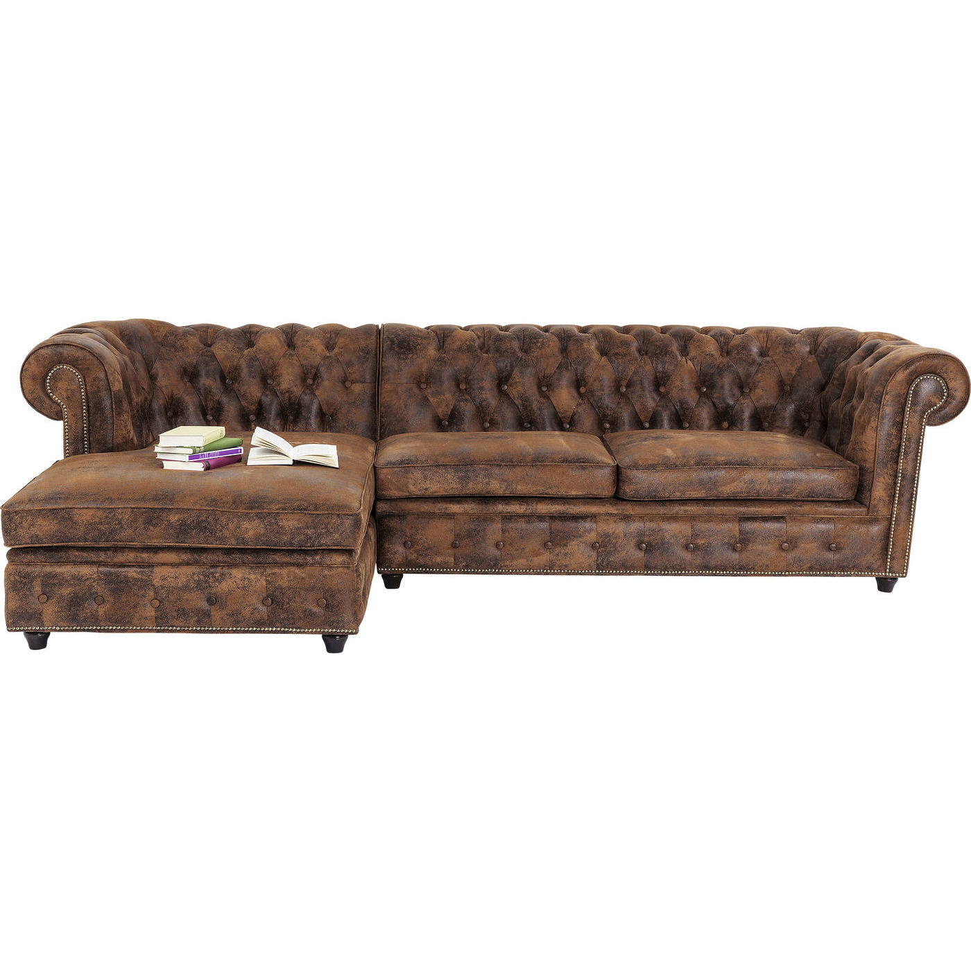 sofa couch eck 3 sitzer dreisitzer vintage chesterfield l. Black Bedroom Furniture Sets. Home Design Ideas