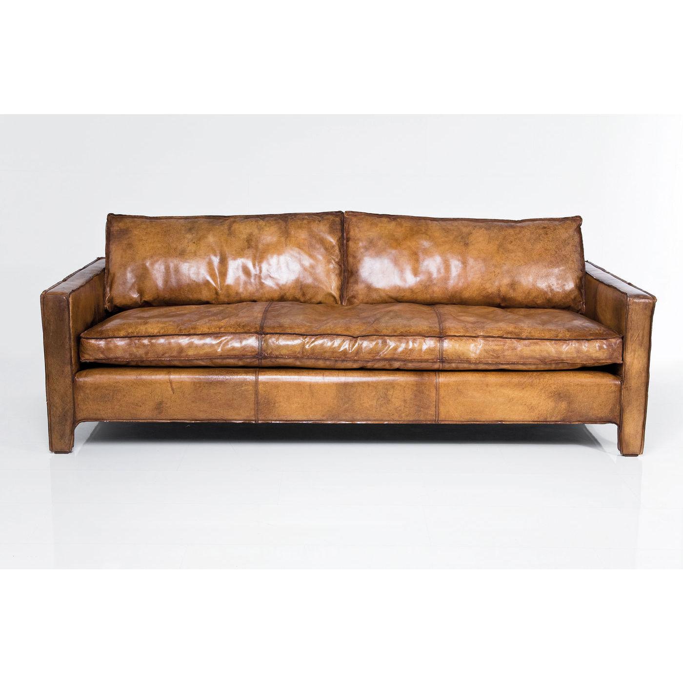 sofa couch 3 sitzer dreisitzer buffalo b ffelleder braun neu kare design ebay. Black Bedroom Furniture Sets. Home Design Ideas
