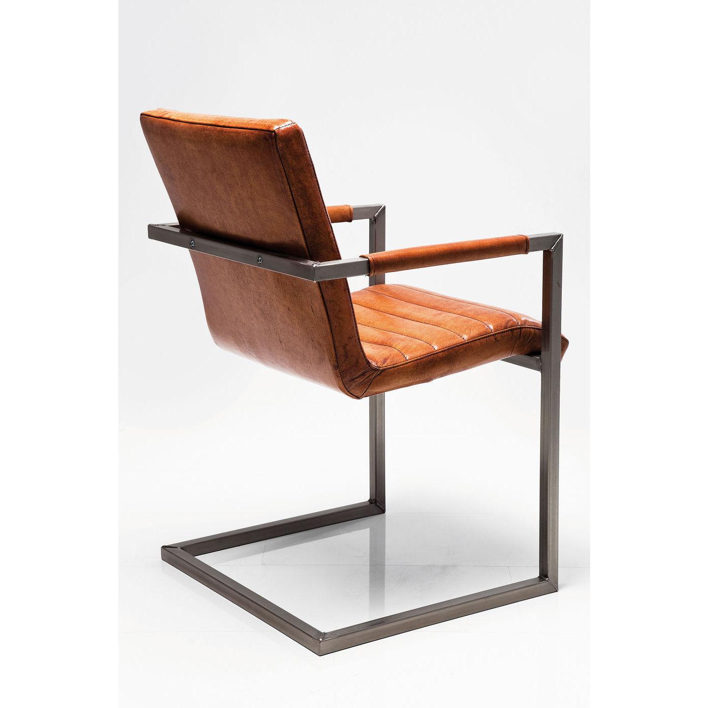 Stuhl freischwinger schwingstuhl b rostuhl armlehnstuhl - Kare design stuhl ...