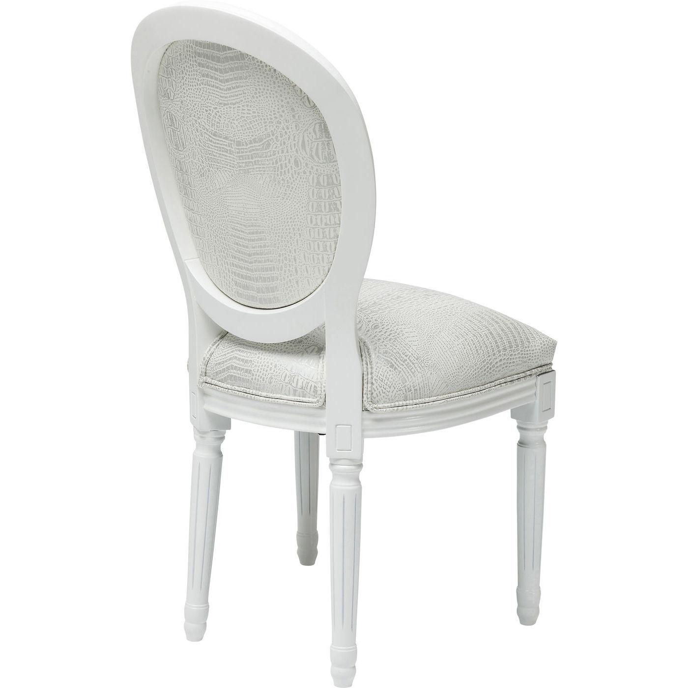 kare design stuhl louis stuhl polsterstuhl barockstuhl louis seize kroko wei neu