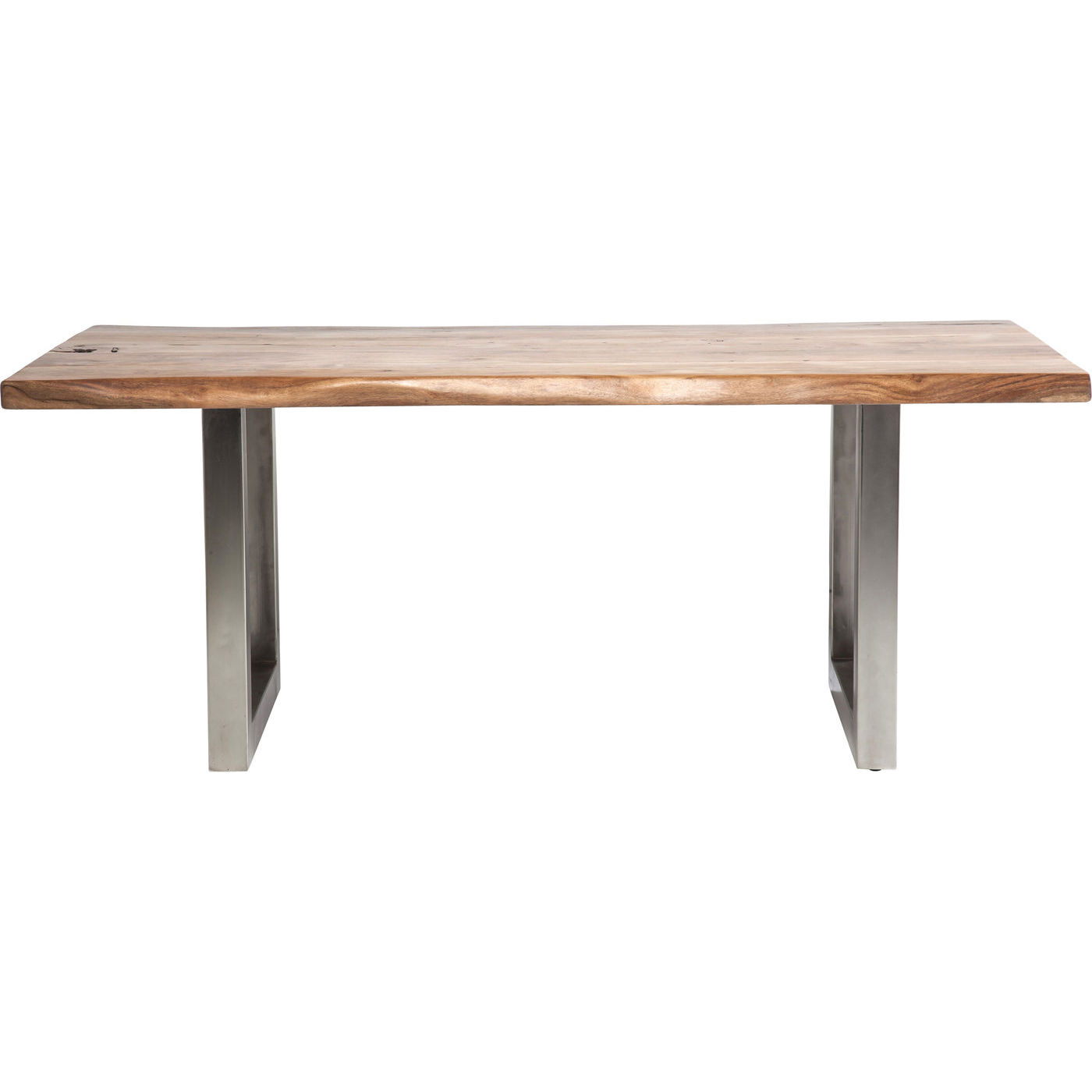 Tisch esstisch holztisch massivholz metallgestell braun for Esstisch massivholz metallgestell