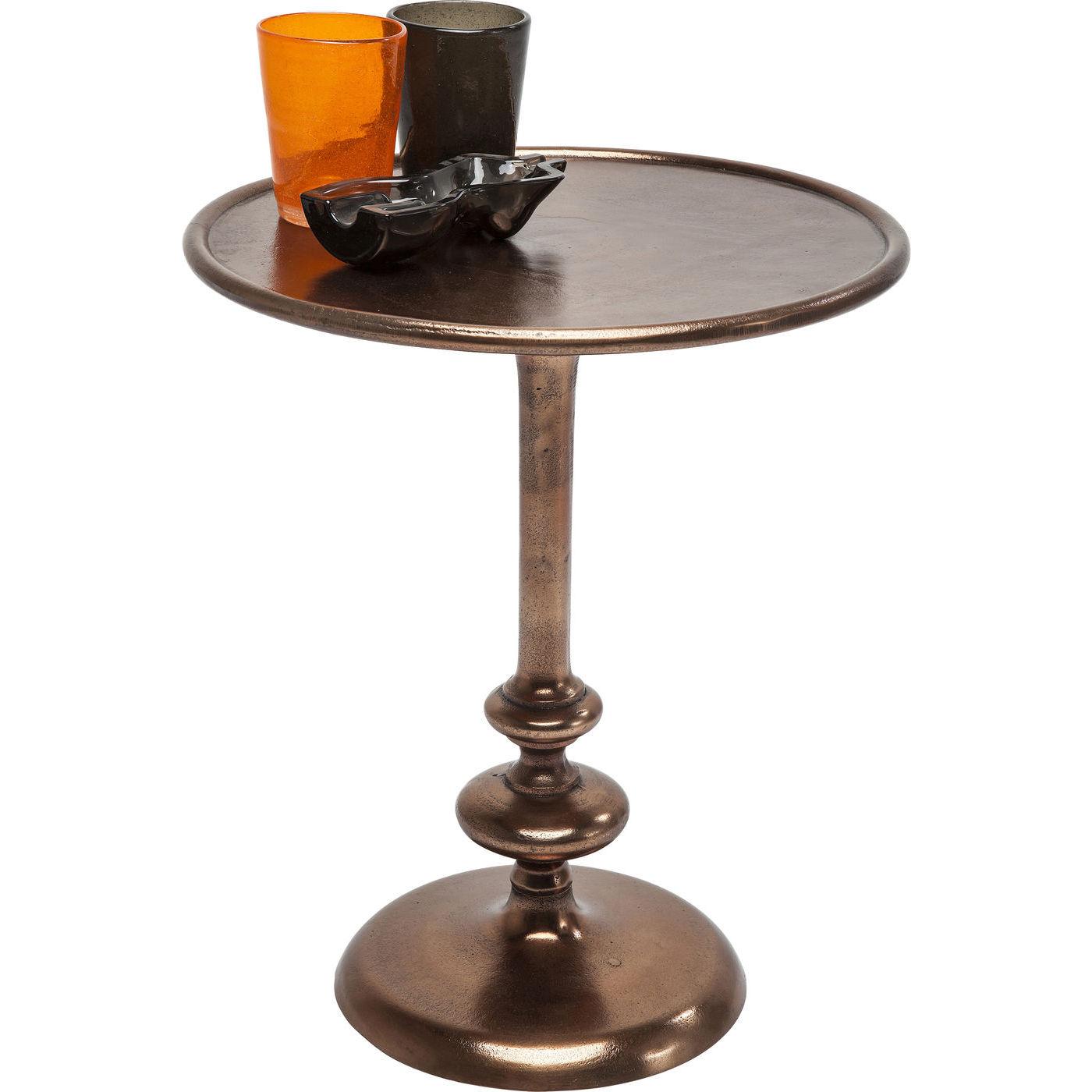 Tisch beistelltisch couchtisch blumentisch ablage kupfer for Kare design tisch rund