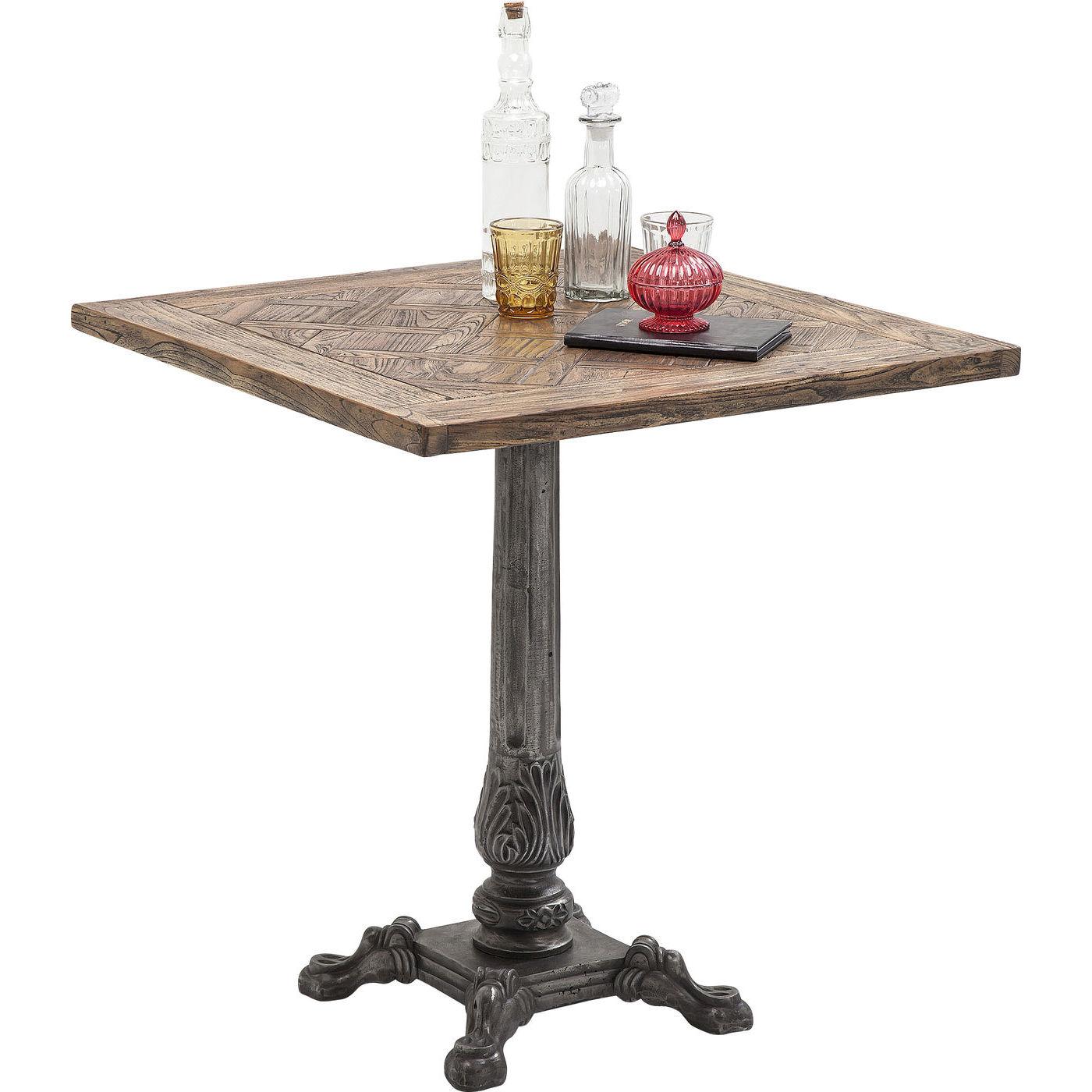 Tisch bistrotisch holztisch esstisch quadratisch 70x70 for Esstisch 70x70