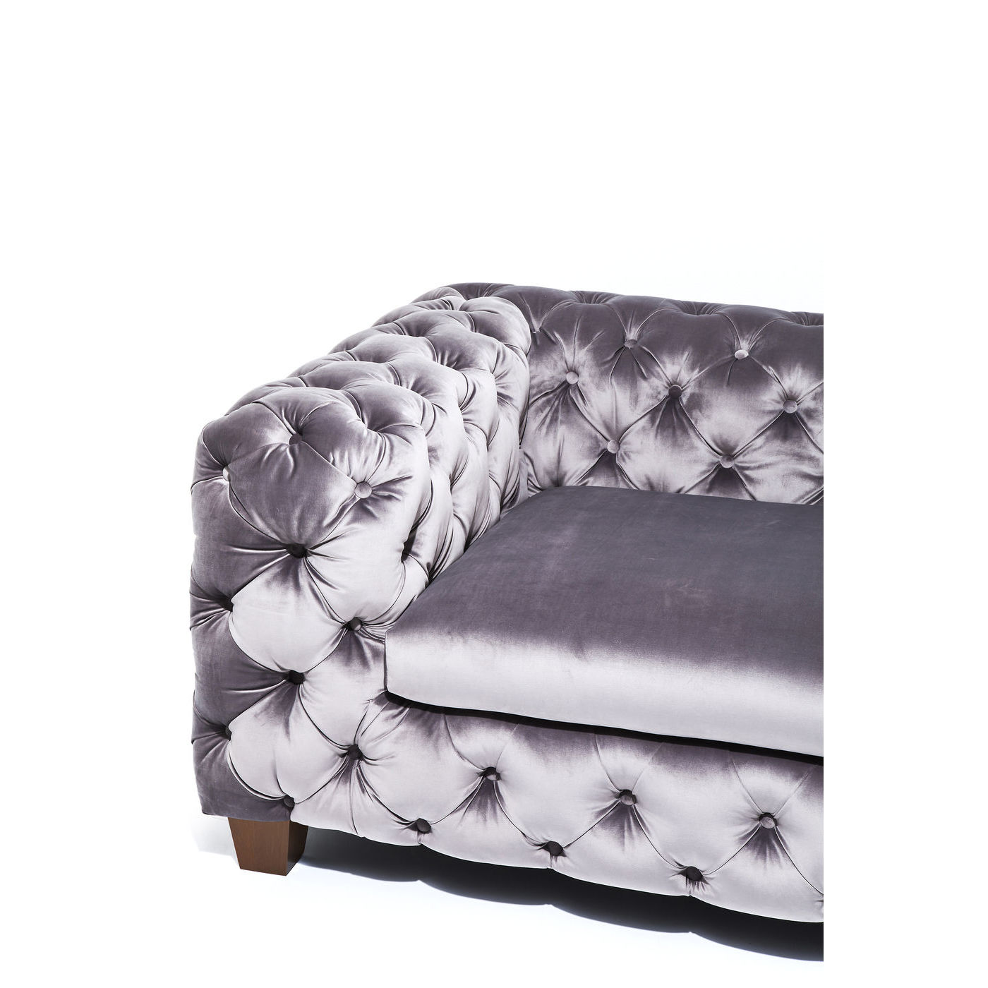sofa couch loungesofa chesterfield samt 3 sitzer grau. Black Bedroom Furniture Sets. Home Design Ideas