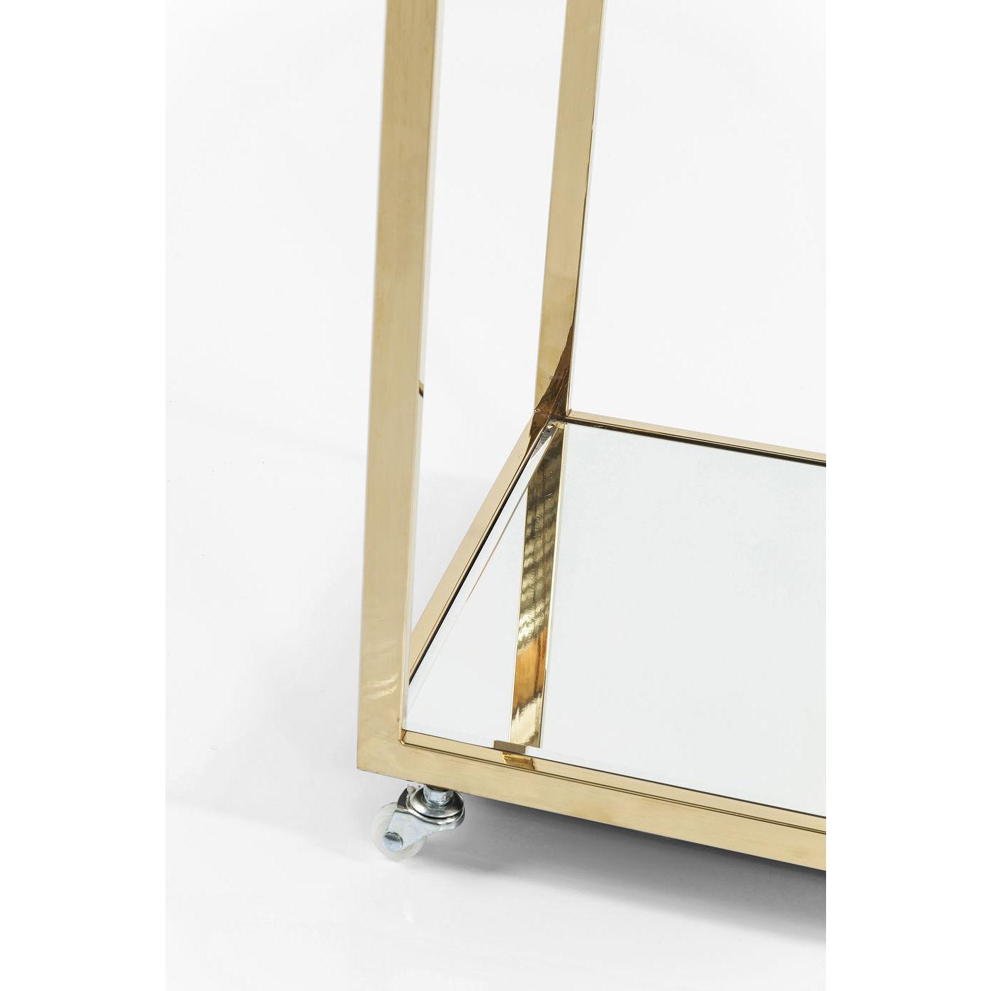 servierwagen bartisch tisch dessertwagen rollwagen classy gold neu kare design ebay. Black Bedroom Furniture Sets. Home Design Ideas