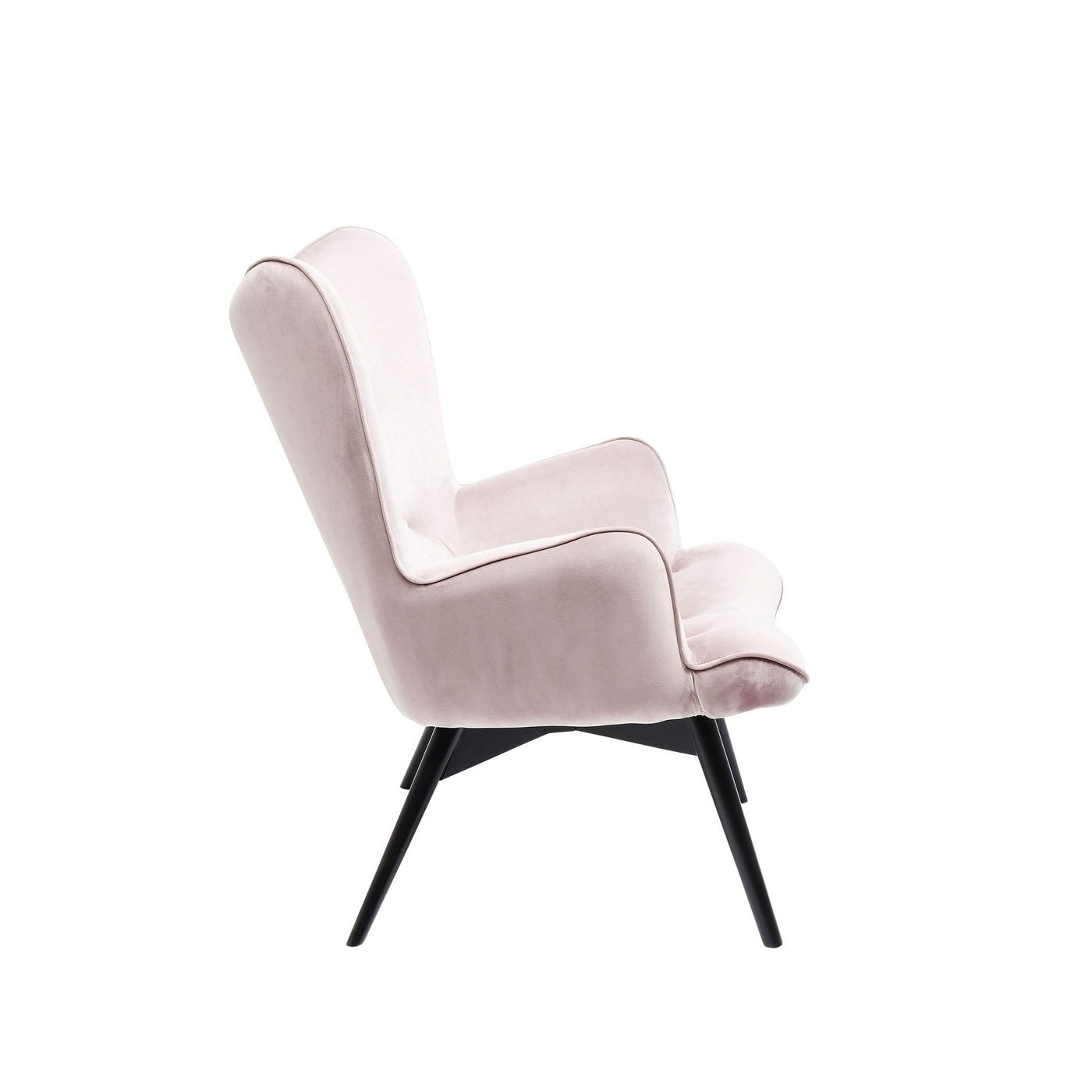 Sessel clubsessel cocktailsessel loungesessel retro vicky for Samt sessel rosa
